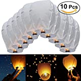 KINO Sky Lantern 10 Pcs Oval Sky Lantern Chinese Kongming Lantern Wish Lamp Wedding Party Christmas Decoration