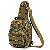 GADIEMENSS Camo Military Tactical Sling Chest Pocket Leisure Lnclined Shoulder Crossbody Bac...