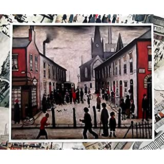 THE COLLECTION OF L S Lowry Speciality Prints and Pictures - With Protective Fine Art Coating - All on a Linen Structure Medium - 16 x 12inch (408mm x 305mm) Image - THE FEVER VAN - Plus Small Border