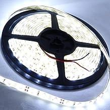 STRISCIA A LED STRIP LED 5 METRI BIANCA 5050 CON ADESIVO IMPERMEABILE + ALIMENTATORE