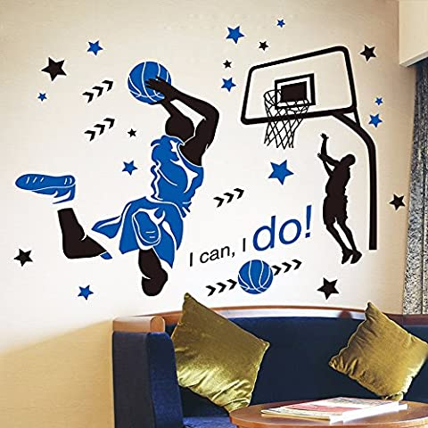 Wall Stickers Stickers Boy Dorm Dormitories Wall Paper Decorations Dunk Dunk Basketball Sports Sports Star Posters 130 × 99Cm