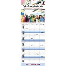 Kalender 2018 Familienplaner Terminplaner Bastelkalender XL zum selber gestalten Höhe 52,5 cm