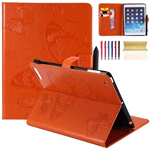 ll 24,6cm, Leicht Ultra Slim Smart Case Flip Folio Ständer Case Schutzhülle Flexible Soft PU Leder Rückseite Schutzhülle mit Auto Sleep/Wake Für iPad 2./3./4. Generation F-Orange ()