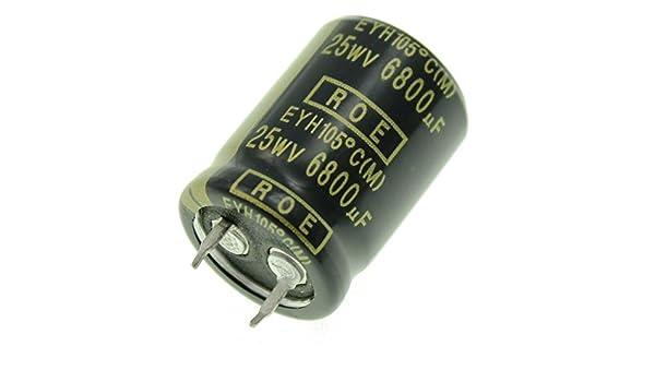 2x Snap-In Elko Kondensator 6800µF 25V 105°C ; EYH07LV468E02K ; 6800uF