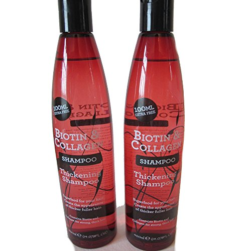 Biotin & Collagen Thickening Shampoo 400 ml (Pack of 2)