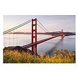 Bilderwelten Fotomural - Golden Gate Bridge in San Francisco - Mural apaisado papel pintado fotomurales murales pared papel para pared foto 3D mural pared barato decorativo, Tamaño: 255cm x 384cm