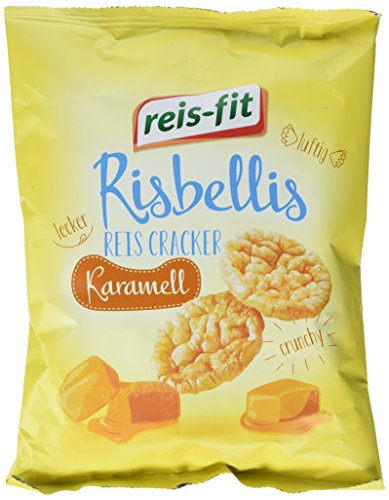 reis-fit Risbellis Reis Cracker Karamell , 4er Pack (4 x 40 g)