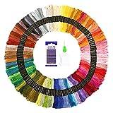 SOLEDI Stickgarn Embroidery Floss multifarben Weicher Baumwolle 8m