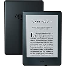 E-reader Kindle, schermo touch da 6