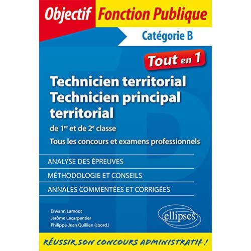Technicien et technicien principal territorial. Concours et examens professionnels