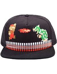 Nintendo Mütze Snap Back Cap Mario Attack schwarz