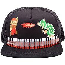NINTENDO Super Mario Brothers camionero del Snapback Gorra de béisbol (Negro)