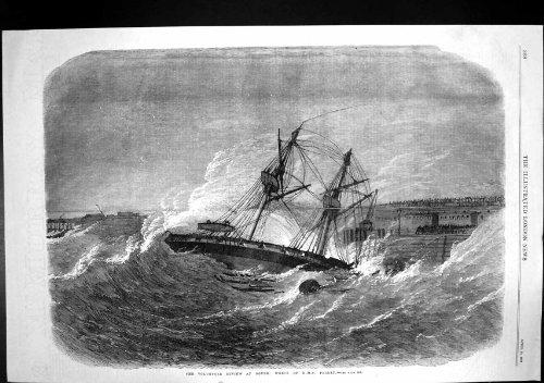 Freiwilliges Frettchen Zusammenfassungs-Dover-Pier-HMS Ruinierte 1869
