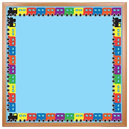 Hygloss Products 33682 Bordüre, 12 Streifen, 7,6 x 91,4 cm, Züge, gestanzt, mehrfarbig -