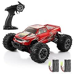 Idea Regalo - HELIFAR Auto Radiocomandata 1:16, Auto RC Monster Truck Macchina Telecomandata RC Car 4wd 36KMH da Corsa Veloci 2.4Ghz Trasmissione Camion Fuoristrada Monster Veicolo RC per Bambini ed Adulti