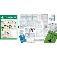 Komplett-Set Erste-Hilfe Din/EN 13157 Plus 1A für Betriebe INKL. Verbandbuch, Notfallbeatmungshilfe & AUSHANG... preisvergleich bei billige-tabletten.eu