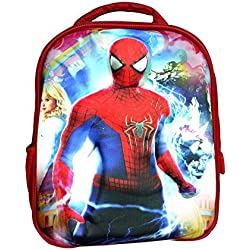 CoolGenX Spiderman School Bag With 3D Effect Suitable For Kids 5 Years Kids Play School Bags - Fabric Color May Vary