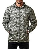Only & Sons Herren Windbreaker Camouflage Übergangs Jacke Regenjacke Kapuze Camo Normex, Größe:M, Farbe:Camouflage Grey