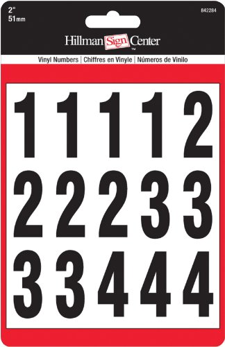 The Hillman Group 842284 Numbers Kit, Black/White, 2-Inch by The Hillman Group (English Manual)
