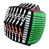 ROXENDA MoYu 15x15x15 Magic Cube Puzzle Coleccionable High-Order Speed Cube, Negro, versión...