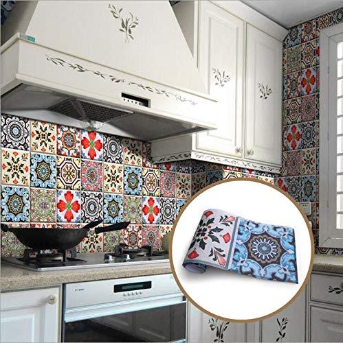 JY ART Fliesenaufkleber für Küche und Bad | Mehrfarbig Bunt Designs wandfliesen Aufkleber für Fliesen | Fliesen-Aufkleber Folie | Deko-Fliesenfolie (20CM*5M ZT04), 20cm*5m