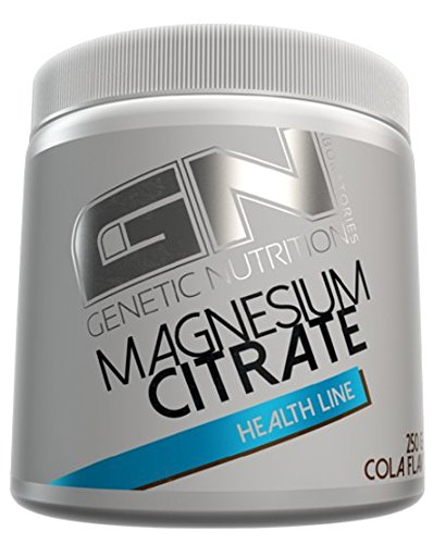 GN Laboratories Magnesium Citrate Pulver Muskelaufbau Ausdauer Energie Supplement 250g (Fruit Punch - - Detox Punch