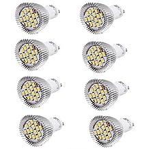 7W GU10 Focos LED MR16 15 SMD 5630 700 lm Blanco Cálido / Blanco Fresco Decorativa AC 85-265 / AC 100-240 V 8 piezas ( Color de Luz : Blanco Frío , Voltaje : 110V )