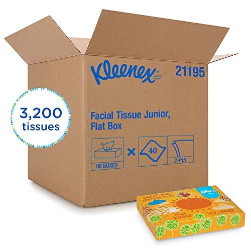 Kleenex Facial Tissue (21195), flach Tissue Kästchen, 80Junior/Fall, 40Tücher/Box - Gesichts-gewebe-marken