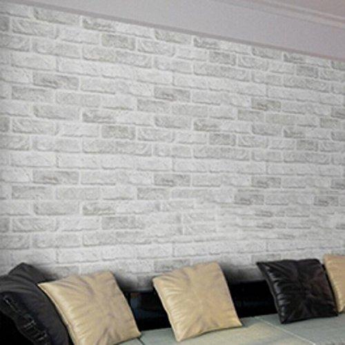 Inovey 10M Non Tissé Colth Rouleau Papier Peint Couleur Irrégulière Bande De Flanelle Maison Décoration Murale - Blanc