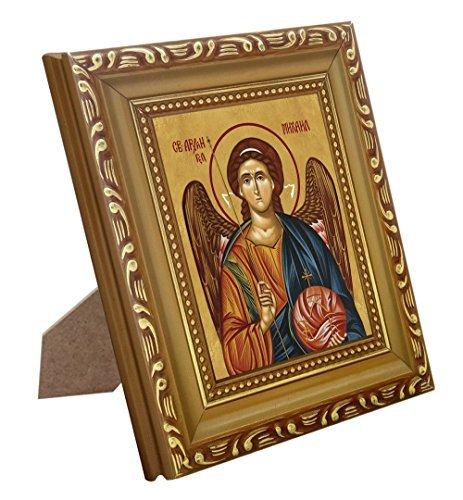 katholischen Icon St. Michael der Erzengel Druck mit Holz Rahmen ()