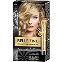 BELLE FINE® - Black Series - Tinte permanente natural - Con 3 aceites y 553d420756c9
