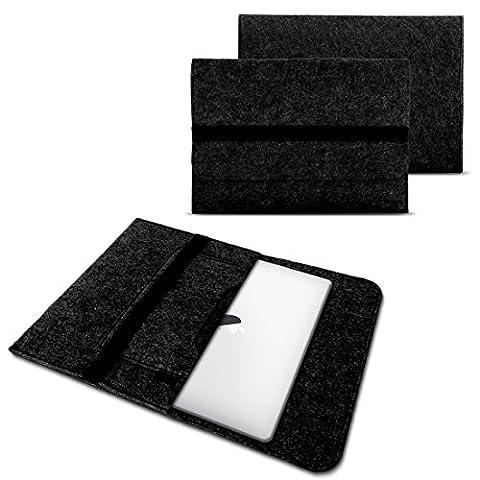 nauc Sacoche pour ordinateur portable Housse Sleeve Étui de protection pour tablette MacBook Netbook Ultrabook Laptop Case en plusieurs couleurs Mi deux compartiments internes pour accessoires compatible avec par exemple Samsung Apple Asus Medion Lenovo