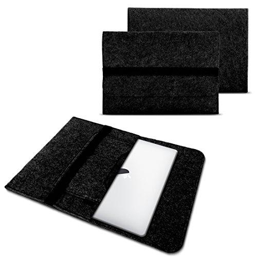 NAUC Laptop Tasche Sleeve Hülle Schutztasche Filz Cover für Tablets und Notebooks Farbauswahl kompatibel mit Samsung Apple ASUS Medion Lenovo, Farben:Dunkel Grau, Größe:15-15.6 Zoll