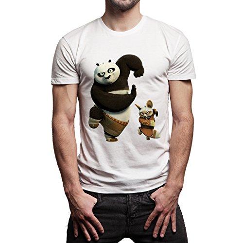 Kung-Fu-Panda-3-Friend-Dancing-Background.jpg Herren T-Shirt Weiß