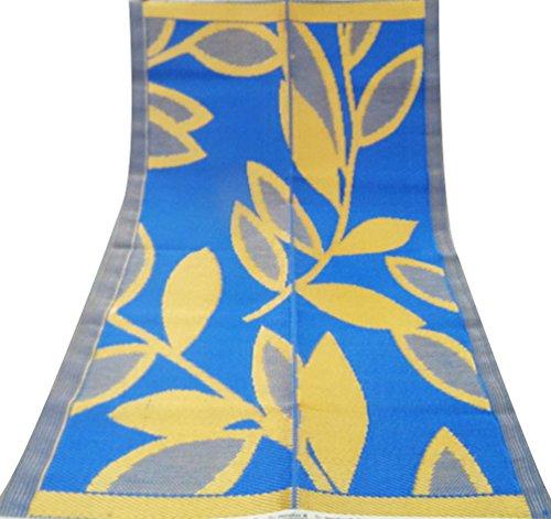 artigianale-tappeto-in-polipropilene-materiale-fogliare-blu-arancio-modello-grande-tappetino-di-plas