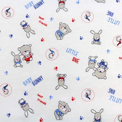 Neumann Handelsvertrieb Jersey Stoff 100% Baumwolle 165 cm Breit (100 x 165 cm, Bären Hasen)