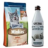 Happy Cat Minkas mit Geflügel 10 kg + 1 x TJURE Samtpfötchen