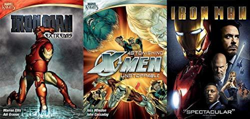 X-TREME Marvel Knights Anime Collection: Astonishing X-Men Unstoppable (Animated Serie) & Ironman Extremis 2 Disk-DVD-Kollektion + Bonus Iron Man 1 DVD (3 Filmpaket)