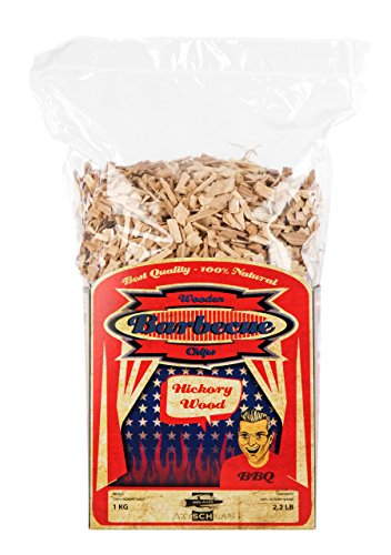 Axtschlag Räucherchips, Wood Smoking Chips Hickory, Holz, 1 kg (Bbq Smoke-box)