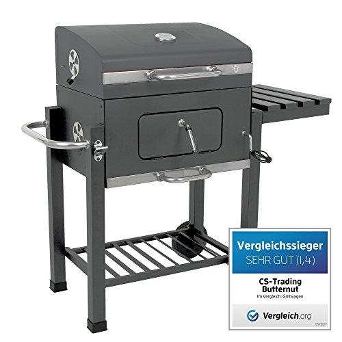 """BBQ-TORO Holzkohle Grillwagen """"Butternut"""" BBQ Smoker 1. Platz im Vergleich Premium Barbecue Grill Luxus Gartengrill"""