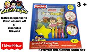 Fisher Price Little People - Bathtub Colouring Book Set