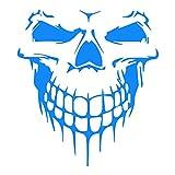Sedeta® blanc Skull Skeleton Styling Decal Autocollants réfléchissants de moteur de voiture BRICOLAGE Décoration pour le mur drôle