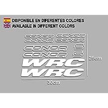 PEGATINAS CONNOR WRC F120 VINILO ADESIVI DECAL AUFKLEBER КЛЕЙ MTB STICKERS BIKE (BLANCO)