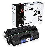 Logic-Seek - Tóner para HP CF280X, color negro, color (03) - 2x negro
