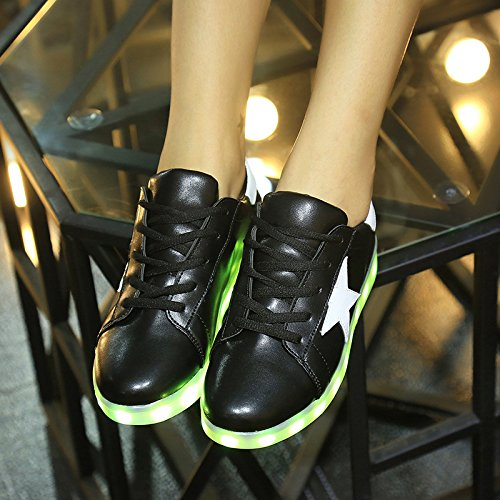 2016 estate inverno Star Scarpe Casual Uomo e Donna LED 2 colori EU35 – 44 Women Black