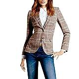 NPRADLA 2018 Blazer Damen Jacke Casual Arbeit Taste Anzug Büro Mantel Jacke Anzüge(2XL/42,Mehrfarbig)