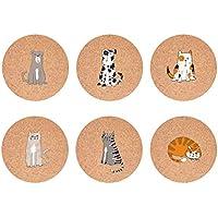 HUGS IDEA - Posavasos para mascotas (6 unidades, 9 x 9 x 1,