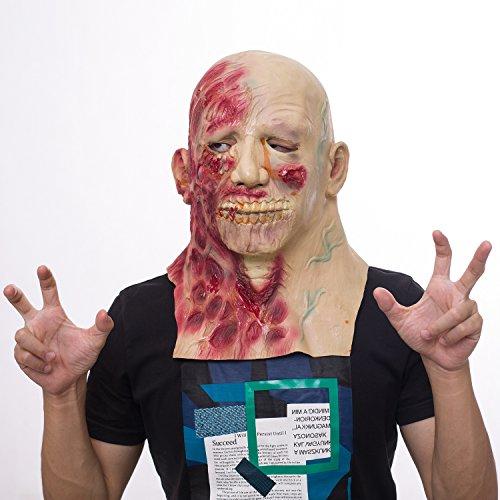 Máscara de Zombie, Máscara de Látex de Cerebro para Adultos, Novedad de Halloween Completa Sobre la Máscara de Látex de Cabeza, Máscara de Terror de Cosplay Party Cosplay Scary
