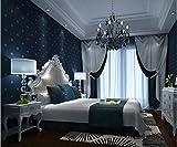 WH-PORP Einfache Vliesstoff-Tapeten-Wohnzimmer-Fernsehhintergrund-Hintergrund-Grün-dunkelblaue Diamant-3D Tapete-128cmX100cm