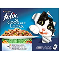 ‏‪Purina Felix As Good as it Looks Jelly With Vegetables Wet Cat Food Pouch 100g (12 Pouches)‬‏